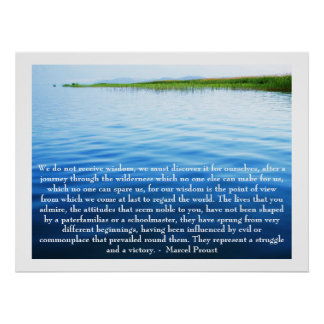 Marcel Proust - Quote about LEARNING Poster