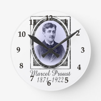 Marcel Proust Round Clock