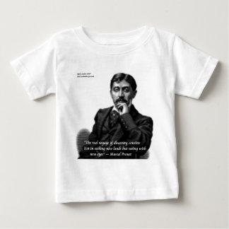 Marcel Proust y cita famosa Playera De Bebé