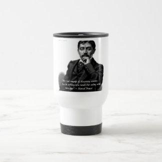 Marcel Proust y cita famosa Taza De Viaje