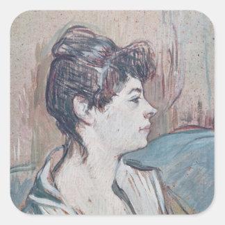 Marcelle, 1894 square sticker