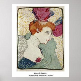 Marcelle Lendert By Henri De Toulouse-Lautrec Poster