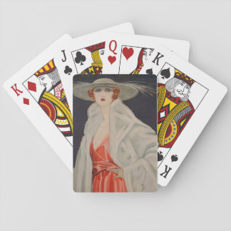Marcello Dudovich Actress Elena Maskowska Playing Cards