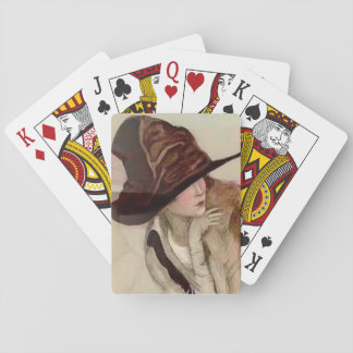 Marcello Dudovich Young Girls in Hats Illustration Playing Cards