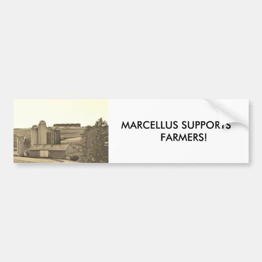 MARCELLUS SUPPORTS     FARMERS! BUMPER STICKER