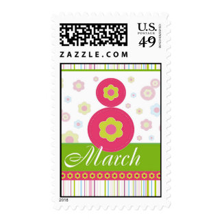 March8 March eight International Women's Day Postage