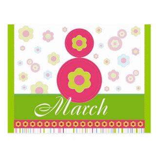 March8 March eight International Women's Day Postcard
