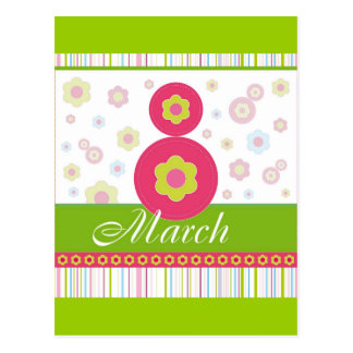 March8 March eight International Women's Day Postcard