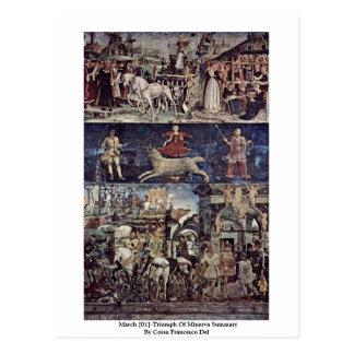 March [01]-Triumph Of Minerva Summary Postcard