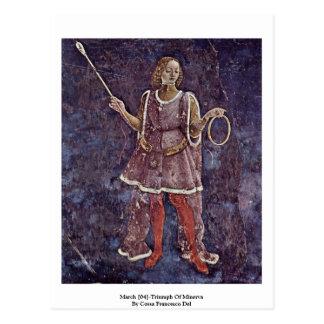 March [04]-Triumph Of Minerva Postcard