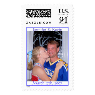 March 17th, 2007, Jennifer & Kevin Postage