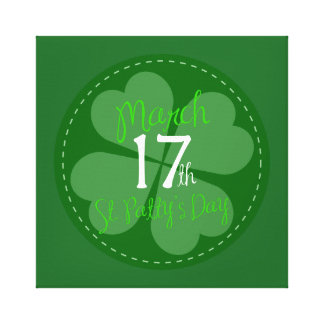 March 17th St. Patty's Day Celebration Canvas Print