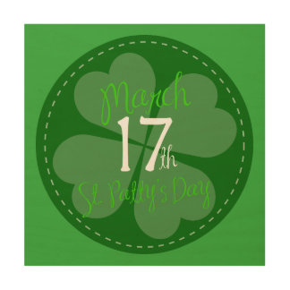 March 17th St. Patty's Day Celebration Wood Print