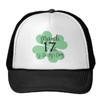 March 17th St. Patty's Day Mesh Hat
