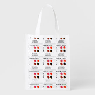 March 21 eliminate racism day grocery bag