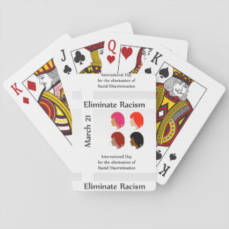 March 21 eliminate racism day playing cards