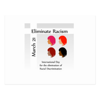March 21 eliminate racism day postcard