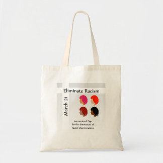 March 21 eliminate racism day tote bag