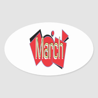 March 4 oval sticker
