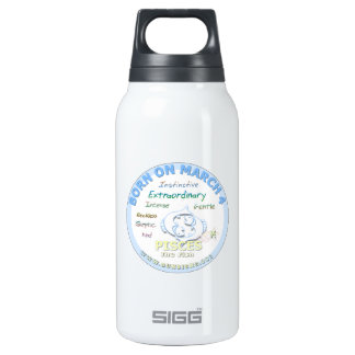 March 4th Birthday - Pisces Insulated Water Bottle