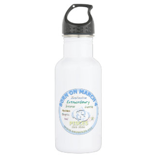 March 4th Birthday - Pisces Water Bottle
