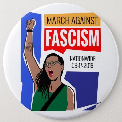 March Against Fascism Button