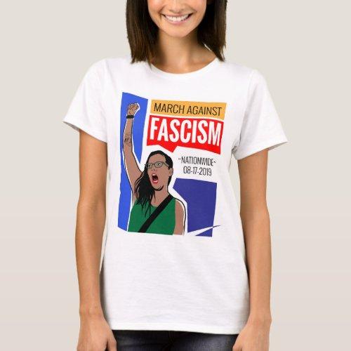 March Against Fascism T_Shirt