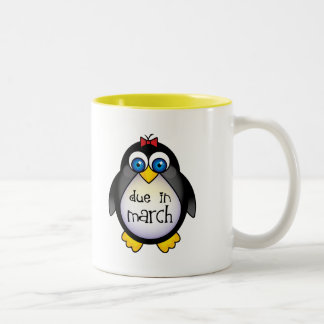 March Baby Announcement Penguin Coffee Mug