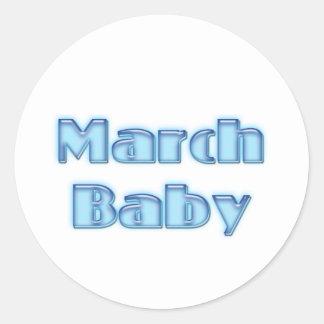March Baby Round Stickers