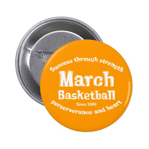 March Basketball Gifts 2 Inch Round Button