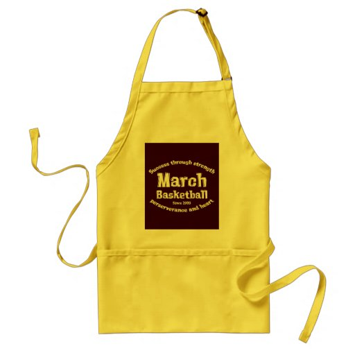 March Basketball Gifts Adult Apron