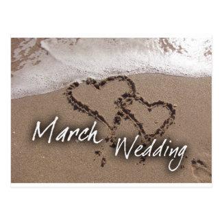 March  Beach Destination Weddin... - Customized Postcard
