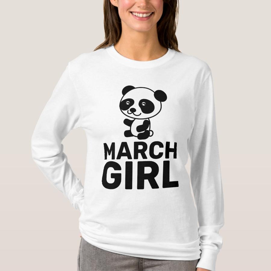 MARCH BIRTHDAY GIRL LADIES T-Shirts - Best Selling Long-Sleeve Street Fashion Shirt Designs