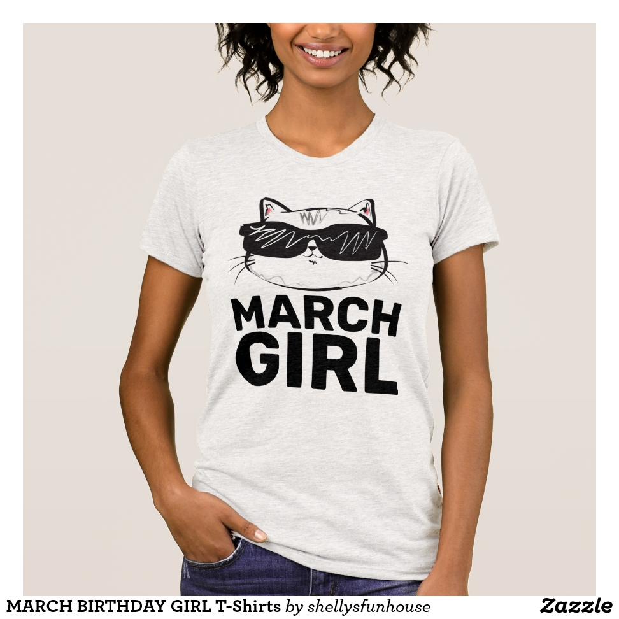 MARCH BIRTHDAY GIRL T-Shirts - Best Selling Long-Sleeve Street Fashion Shirt Designs