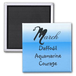 March Birthday Magnet