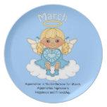 March Birthstone Angel Blonde Dinner Plate