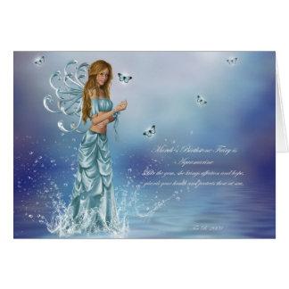 March Birthstone Fairy Greeting Card