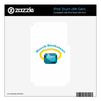 March Birthstone Skin For iPod Touch 4G