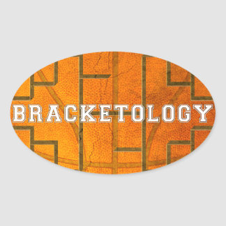 MARCH BRACKETOLOGY BASKETBALL OVAL STICKER