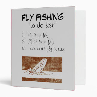 """""""March Brown Natural-To Do List"""" Fishing Journal 3 Ring Binder"""