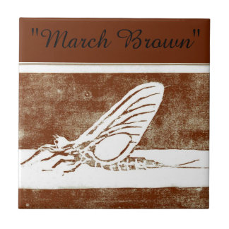 """""""March Brown""""  trout fly tile"""