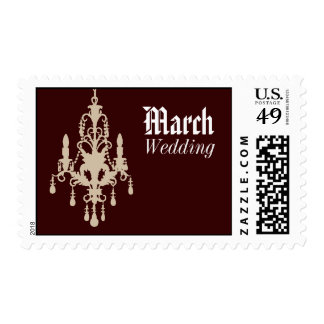 March Chocolate Chandelier Wedding Postage