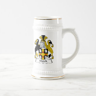 March Family Crest Beer Stein