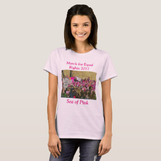 March for Equal Rights for Women, Sea of Pink T-Shirt