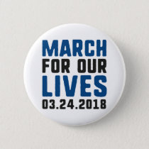 March For Our Lives Button