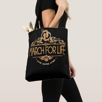 March for Pro Life - Choose Life Tote bag