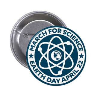 March for Science Any Color Earth Day Button Pin