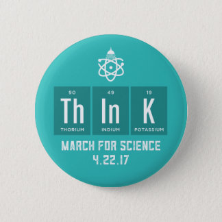 March For Science Chemical Elements Button