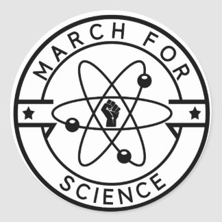 march_for science classic round sticker
