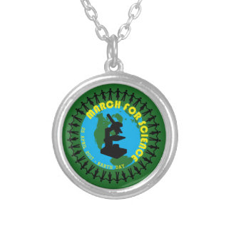 March for Science - Earth Day - 22 April 2017 Silver Plated Necklace